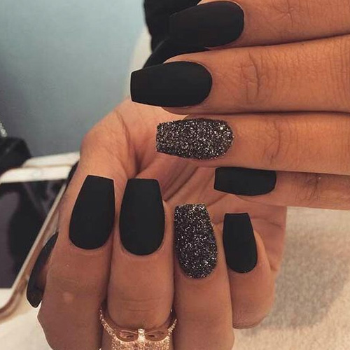 Best Black Nails 19 Best Black Nails For 2019 Favnailartcom