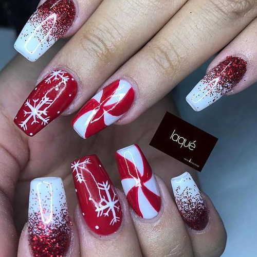christmas time 36 best christmas nails for 2020 favnailart com best christmas nails