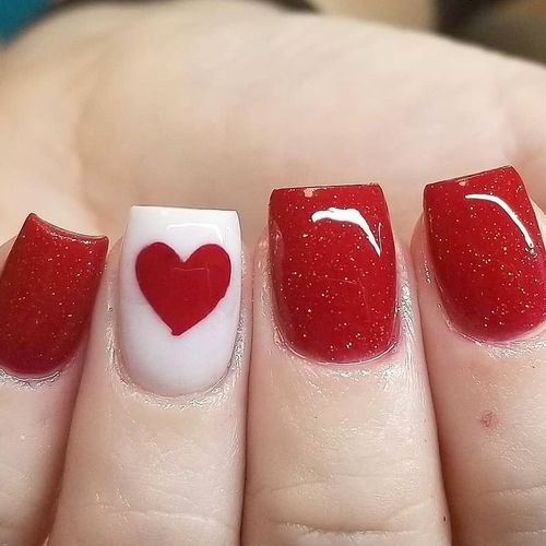 valentines day nails 2020